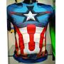 Camiseta En Polyester De Capitan America Importada