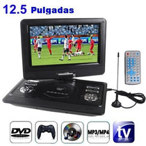 Dvd Portatil De 12.5 Con Tv Usb Sd Radio 3d Incluye Gafas