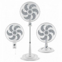 Ventilador Triple Funcion De Plastico /blanco Turbo Silence