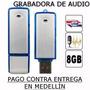 Grabadora Audio Voz Espia Usb 8gb Alta Calidad Sensibilidad