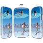Forro Estuche Samsung Galaxy S3 Mini Gt I8190 Patinando Azul