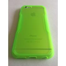 Estuche En Goma Para Apple Iphone 6s + Vidrio + Protector