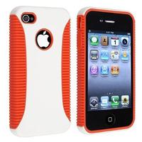 Estuche Hybrid Tpu Con Hard Orange Para Iphone 4 4s 4th Gen