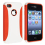 Estuche Hybrid Tpu Con Hard Orange Para Iphone 4 4s 4th Gen