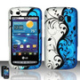 Estuche Cute Blue & Silver Flower Vines Para Lg Vortex Vs660