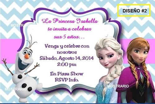 Frozen Tarjetas De Invitación Para Cumpleaños & Piñatas - $ 1.999 ...