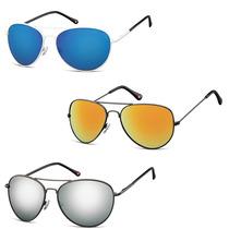 Gafas Sol Lentes Polarizados Mirror Color Aviador Montana