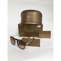 Gafas Gucci Round New Black And Coffee