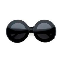 Gafas Mickey Gran Tamaño Ronda Voltear Clear Lens Sunglasse