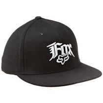 Gorra Fox Hombres Estupor 210 Equipada Hat Negro Tela Rayad