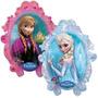 Globo Doblefaz Frozen Elsa Y Anna 79cm Para Inflar Con Helio