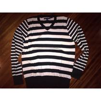 Buzos,cuello En V,100% Algodon ,sweaters,hombre Rallas