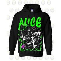 Buso Chompa Estampado Personalizado Ref: Alice In Wonderland