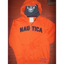 Hoddie Capota Nautica Naranja Talla S, ,solo $ 69.990