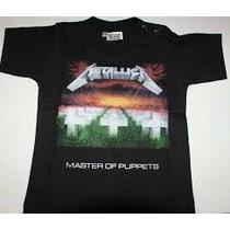 Camiseta Metallica Estampada En Screen