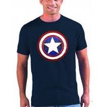 Camiseta De Capitan America Estampada En Screen