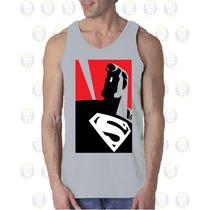 Camisilla Esqueleto De Hombre100% Algodon Diseño: Super Man