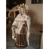 Virgen Del Carmen Encolada Arte Quiteño