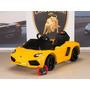 Carro De Bateria De 6 Voltios Con Control Remoto Lamborghini