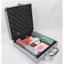Set De Poker 100 Fichas Maleta Metalica Juego De Azar Nuevo