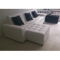 Sala Moderna Sofa Cama Con Baul, Puff Y Mesa Envio Gratis