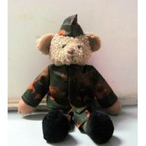 Muñecos Peluche Oso Disfraz Militar