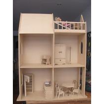 Casa Muñeca Barbie Juguete Para Pintar Decoracion Muebles