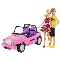 Barbie Jeep, Auto De Playa Con Barbie Y Kent