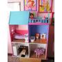 Casa Muñeca Barbie Juguete Casita Pintada Decoracion Muebles