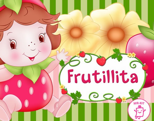 Kit Imprimible Frutillita Bebe Diseñá Tarjetas Cotillon - $ 9.900 ...