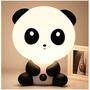 Lámpara De Mesa De Plástico Oso Panda Y Perrito Cuarto Bebé