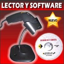 Lector Código De Barras Symbol Ls1203, Base, Cd Barrascarta,