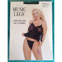 Sexy Teddy - Top Y G String / Ropa Intima - Music Legs