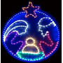 Pesebre Redondo Figuras Navideñas Para Navidad
