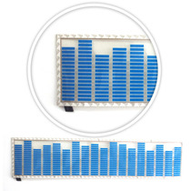 Ecualizador Led Audioritmico 70*16 Azul