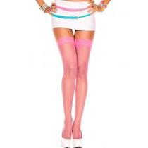 Medias Liguero Rosa Music Legs