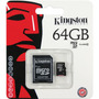 Memoria Micro Sd 64gb Clase 10 - Adaptador Sd Gratis