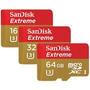 Memoria Micro Sd Hc 32 Gb Sandisk Extreme 4k U3 60 Mb Gopro.