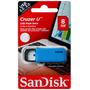 Memoria Usb 8gb Sandisk Cruzer U · Versátil Diseño De Gancho
