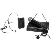 Microfono Inalambrico Mano, Diadema Y Solapa Vhf Wr057