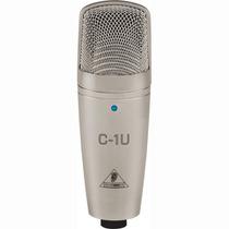 Kit Microfono De Condensador Behringer C1u Con Base Y Cable!