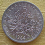 Moneda Francia, De 5 Francos De 1964 En Plata