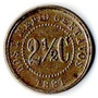 Moneda 2 1/2 Cent Estados Unidos De Colomb 1881 Pequeña 14mm