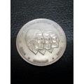 Moneda República Dominicana 1/2peso Derechos Humanos 1987 Vf
