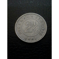 Moneda Colombia 2 1/2 Centavos 1881 18mm Vf