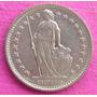 Moneda Suiza Helvetia Medio Franco 1972