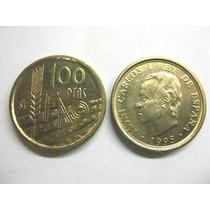 Moneda 100 Pesetas De España 1995-fao: Tierra Arada & Espiga