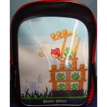 Morral Angry Birds Holográfico 3d Mochila Tamaño Completo 1