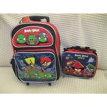 Morral Angry Birds Large \mochila 16 Con Caja De Almuerzo