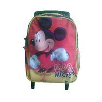 Maleta Morral Mickey Mouse Con Ruedas Disney Importada